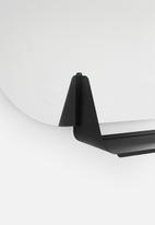 Smart Shelf - Pill mirror shelf - black
