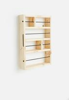 Sixth Floor - Wooden wall mounted shelf - natural