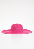 Joy Collectables - Weaved sombero hat - pink