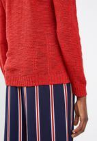 Superbalist - Scoop neck knit - red
