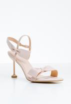 Miss Black - Noori bow detail heels - pale pink