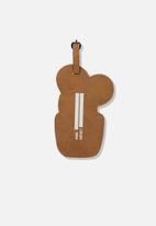 Typo - Shapeshifter luggage tag - green & brown