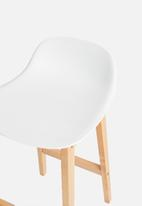 Sixth Floor - Jenson kitchen stool - white