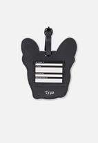 Typo - Shapeshifter luggage tag - black & white