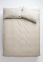 Sixth Floor - Polycotton duvet cover set - taupe