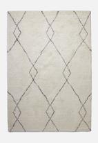 Fotakis - Royal nomadic shaggy rug - dark grey diamonds