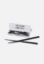 Typo - Lunch cutlery sets - fork off