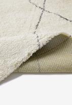 Fotakis - Royal nomadic shaggy rug - cream and grey