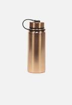 Typo - The striker metal drink bottle - rose gold
