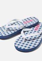 Cotton On - Printed flip flop - blue
