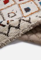 Fotakis - Royal nomadic shaggy rug - colourful triangles