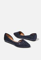 Cotton On - Pippy dorsay point - navy glitter
