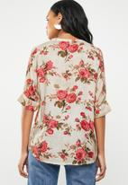G Couture - Flower printed blouse - multi