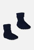 Cotton On - Baby knitted bootie - navy