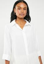 G Couture - Roll-up sleeve shirt - white