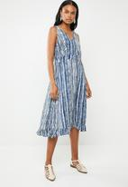 G Couture - Stripe dress with pockets - blue