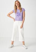Cotton On - Tbar rachel graphic tee - purple