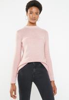 Superbalist - Zip back round neck - pink