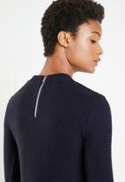 Superbalist - Zip back round neck - navy