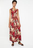 Revenge - Knot detail maxi dress - red