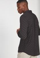 Cotton On - 91 long sleeve shirt - black