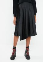 Superbalist - Wrap pleated midi skirt - black