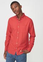 Cotton On - Brunswick shirt - red