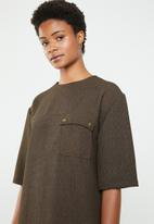 Superbalist - Utility style dress - brown