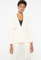 Superbalist - Belted blazer - cream