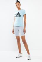adidas - Mh bos tee  - blue
