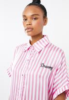 Missguided - Candy stripe oversized night tee - pink