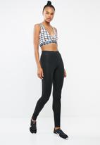 Missguided - Grid wrap front co od training bra - white