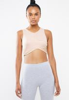 Missguided - Wrap front sports bra - pink