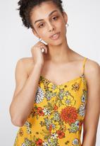 Cotton On - Woven lily strappy frill playsuit - multi