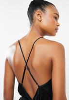 Missguided - Lace trim detail teddy - black