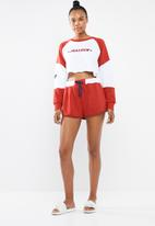 Missguided - Stop being jealous short set - red