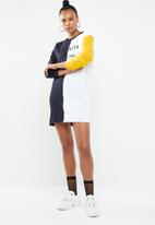 Missguided - Oversized sweater dress - navy & white