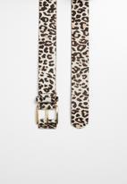 Superbalist - Leopard print belt - brown & white