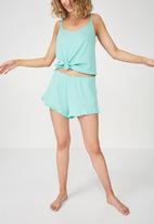 Cotton On - Rib frill short - turquoise