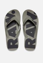 G-Star RAW - Dend flip-flop - grey/navy