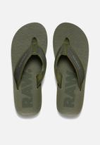 G-Star RAW - Flip flop textile - green
