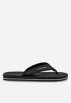 G-Star RAW - Flip flop textile - black