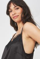 Cotton On - Love story woven cami - black
