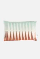 Sixth Floor - Bakari cushion cover - blue & coral