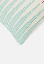 Sixth Floor - Bakari cushion cover - blue & rust