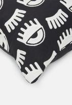 Sixth Floor - Ochi cushion cover - black & white