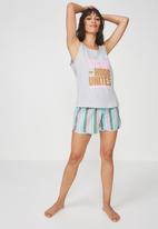 Cotton On - Jersey scoop tank top - grey