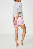 Cotton On - Boyfriend jersey short - pink