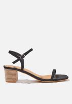 Cotton On - Wisteria low block heel - black