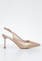 Miss Black - Elba heel - rose gold